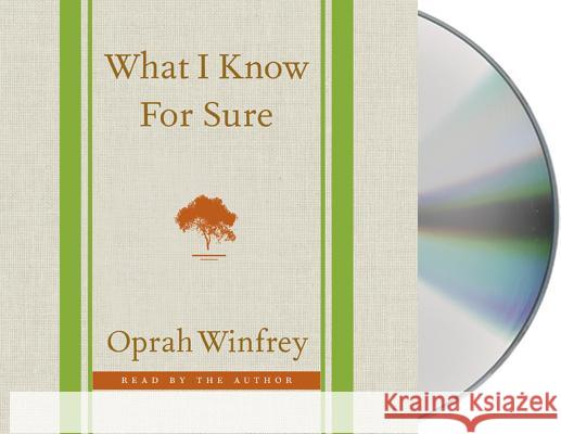What I Know for Sure - audiobook Oprah Winfrey 9781427258267