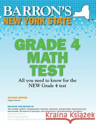 New York State Grade 4 Math Test Margery Masters   9781438000435 Barron's Educational Series