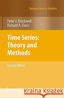 Time Series: Theory and Methods Peter J. Brockwell Richard A. Davis 9781441903198