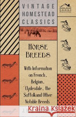 Horse Breeds - With Information on French, Belgian, Clydesdale, the Suffolk and Other Notable Breeds J. H. S. Johnstone 9781446531402