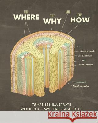 The Where, the Why, and the How: 75 Artists Illustrate Wondrous Mysteries of Science Julia Volvovski Rothman Lamothe 9781452108223