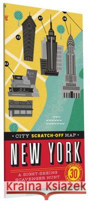 City Scratch-Off Map: New York: A Sight-Seeing Scavenger Hunt Christina Henr 9781452139869 Chronicle Books (CA)