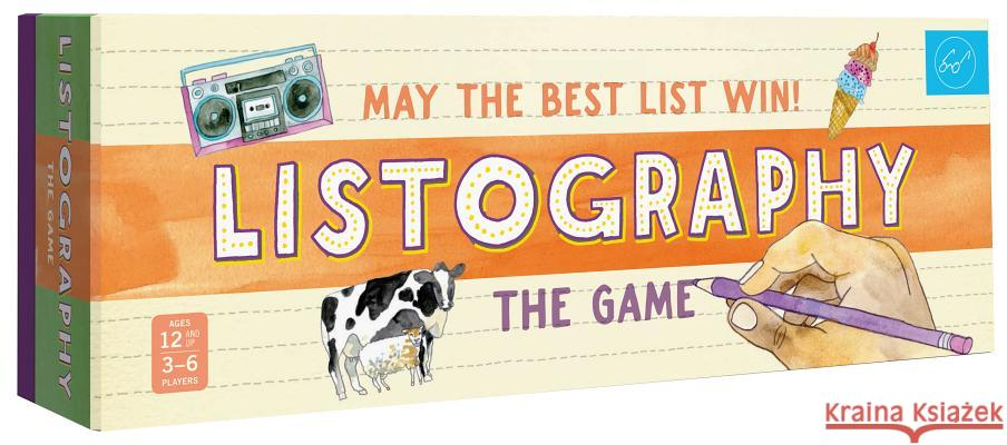 Listography: The Game: May the Best List Win! Lisa Nola 9781452151779 Chronicle Books