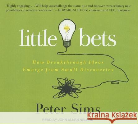Little Bets: How Breakthrough Ideas Emerge from Small Discoveries - audiobook  9781452603933