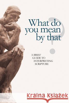 What Do You Mean by That?: A Brief Guide to Interpreting Scripture Paul Volk 9781461058564