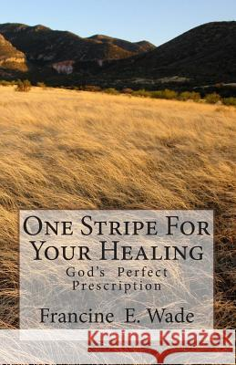 One Stripe for Your Healing: God's Perfect Prescription Francine E. Wade 9781461172444