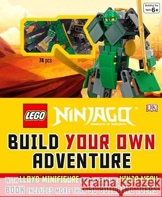 Lego(r) Ninjago: Build Your Own Adventure: With Lloyd Minifigure and Exclusive Ninja Merch, Book Includes More Than 50 Buil  9781465435903