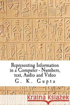 Representing Information in a Computer: Numbers, Text, Audio and Video Dr G. K. Gupta 9781466495555