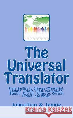 The Universal Translator Johnathan -. Jennie Robinson 9781482536096