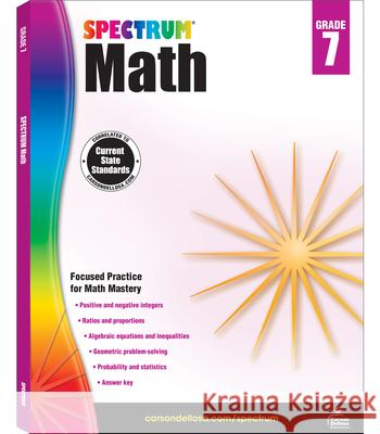 Spectrum Math Workbook, Grade 7 Spectrum 9781483808758