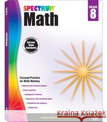 Spectrum Math Workbook, Grade 8 Spectrum 9781483808765