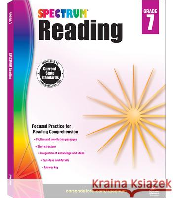 Spectrum Reading Workbook, Grade 7 Spectrum 9781483812205