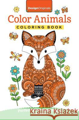 Color Animals Coloring Book: Perfectly Portable Pages Jess Volinski 9781497202399