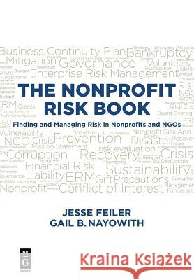 The Nonprofit Risk Book Jesse Feiler Gail Nayowith 9781501515163