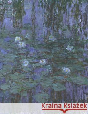 water lilies and japanese bridge claude monet journal 150 lined ruled pages 85 x 85 inch 2159 x 2159 centimeters laminated paper notebook composition book