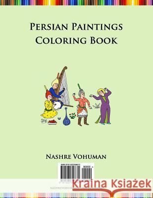 Persian Paintings Coloring Book Nashre Vohuman 9781523358670