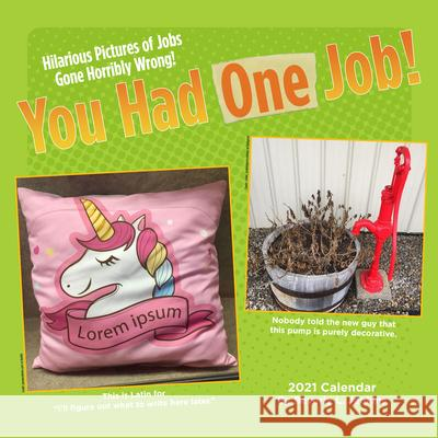 You Had One Job 2021 Wall Calendar Beverly L. Jenkins 9781524857257