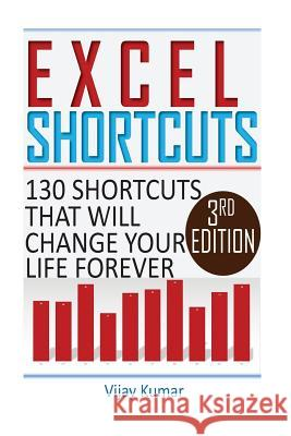 Excel Shortcuts: 130 Shortcuts That Will Change Your Life Forever Vijay Kumar 9781530394067