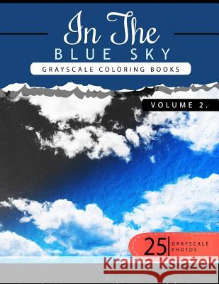 In the Blue Volume 2: Sky Grayscale Coloring Books for Adults Relaxation Art Therapy for Busy People (Adult Coloring Books Series, Grayscale Grayscale Publishing 9781535136112