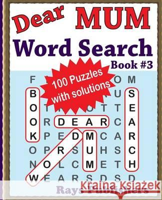 Dear Mum Word Search Book Rays Publishers 9781539679806