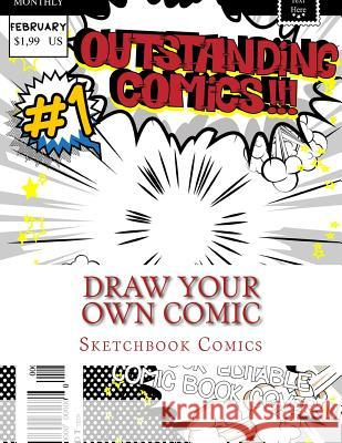 Draw Your Own Comic Sketchbook Comics 9781541124158