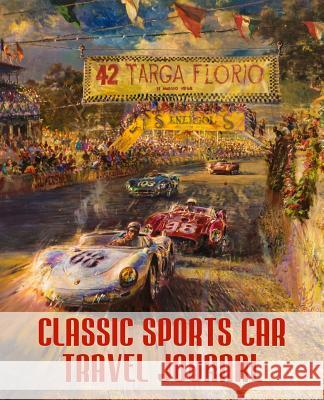 Classic Sports Car Travel Journal Rose Wood 9781541245402