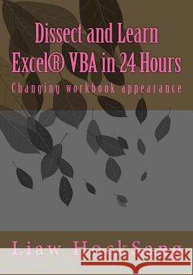 Dissect and Learn Excel(r) VBA in 24 Hours: Changing Workbook Appearance Liaw Hocksang 9781542793230
