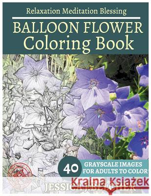 Ballon Flower Coloring Book for Adults Relaxation Meditation Blessing: Sketches Coloring Book 40 Grayscale Images Jessica Belcher 9781544248981
