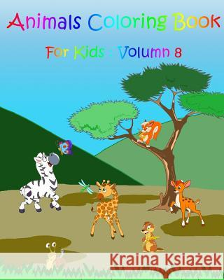 Coloring Books for Kids: Animals: Stress Relief Coloring Book Gem Book Coloring Books Fo 9781545541937