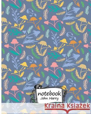 Notebook Journal Dot-Grid, Graph, Lined, Blank No Lined: Flowers Pattern: Pocket Notebook Journal Diary, 120 Pages, 8