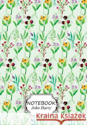 Notebook: Mini Flowers Pattern: Pocket Notebook Journal Diary, 110 Pages, 7 X 10 (Notebook Lined, Blank No Lined) John Harry 9781547235803