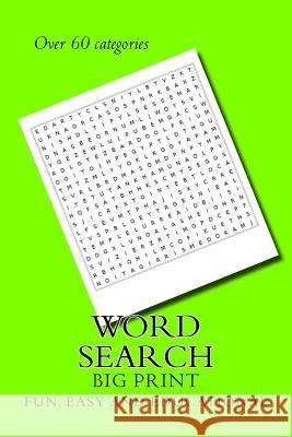 Word Search: Big Easy to Read M. Vitale 9781548540722