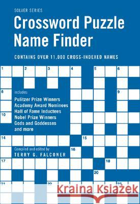 Crossword Puzzle Name Finder Terry G. Falconer 9781554072880