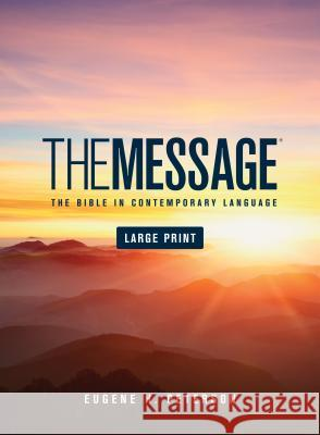 Message Bible-MS-Large Print Numbered Eugene H. Peterson 9781576838457