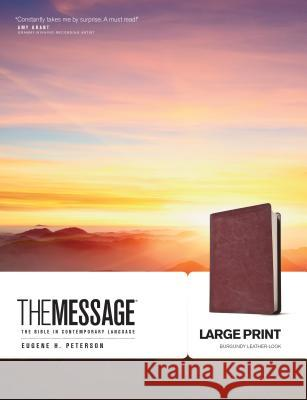 Message Bible-MS-Large Print Numbered Eugene H. Peterson 9781576838464