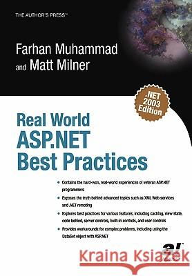 Real World ASP.Net Best Practices Farhan Muhammad Matt Milner 9781590591000
