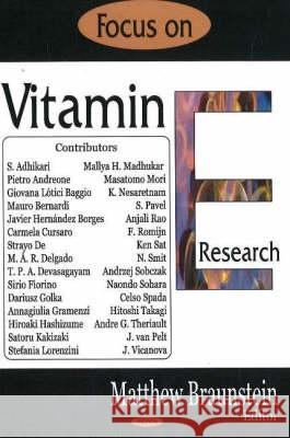 Focus on Vitamin E Research  9781594549717