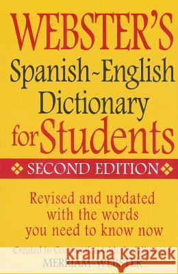 Web Spanish-English Dict for S Merriam-Webster 9781596951662