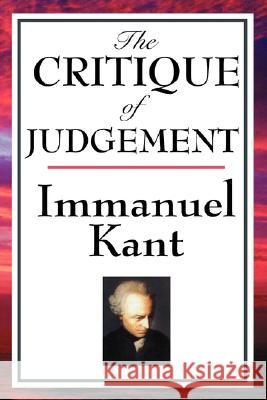 The Critique of Judgement Immanuel Kant 9781604592733