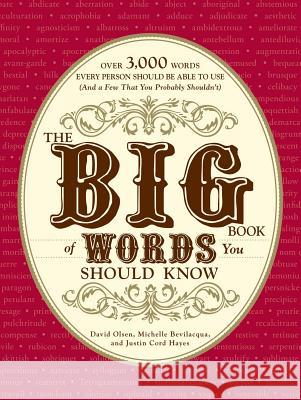 The Big Book of Words You Should Know: Over 3,000 Words Every Person Should Be Able to Use (and a Few That You Probably Shouldn't) David Olsen Michelle Bevilacqua Justin Cord Hayes 9781605501390
