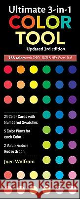 Ultimate 3-In-1 Color Tool: -- 24 Color Cards with Numbered Swatches -- 5 Color Plans for Each Color -- 2 Value Finders Red & Green Joen Wolfrom 9781607052357