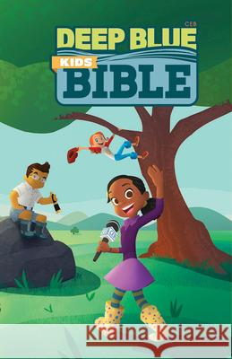 Ceb Deep Blue Kids Bible Wilderness Trail Hardcover Common English Bible 9781609262204
