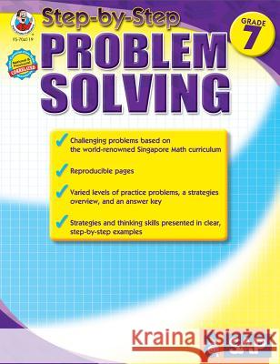 Math Step-By-Step Problem Solving, Grade 7 Singapore Asian Publications 9781609964825