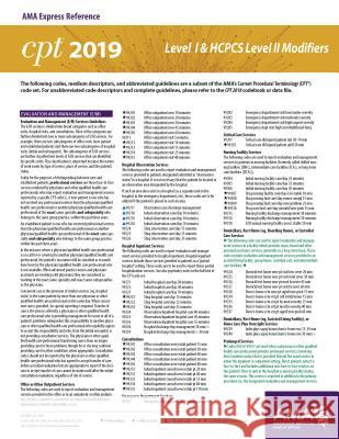 Erc-CPT & HCPCS Modifiers 2019 American Medical Association 9781622028023