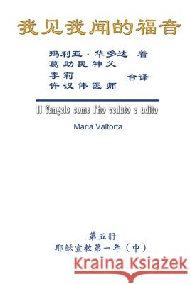 The Gospel As Revealed to Me (Vol 5) - Simplified Chinese Edition: 我见我闻的福音A))简߮ Maria Valtorta                           Hon-Wai Hui                              许汉伟 9781625035264