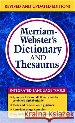 Merriam-Webster's Dictionary and Thesaurus Merriam-Webster 9781627655460