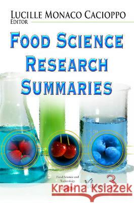 Food Science Research Summaries   9781631178641