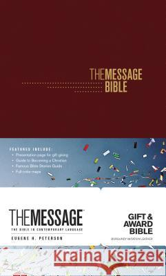 The Message Gift and Award Bible Eugene H. Peterson 9781631467110