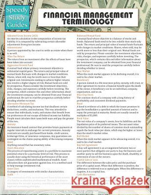 Financial Management Terminology (Speedy Study Guide) Speedy Publishing LLC   9781635011654