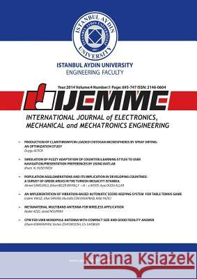 International Journal of Electronics, Mechanical and Mechatronics Engineering: Ijemme Osman Nuri Ucan 9781642260762